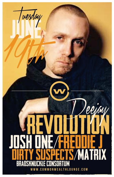 Josh One with Dj Revolution June 19th, in Fullerton